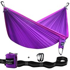 SEGMART Camping Hammock- Easy Hanging Double Hammock with Tree Straps&Carabiners, 600lbs Camping Cot, Family Camping, Camping Hacks, Camping Gear, Outdoor Camping, Outdoor Gear, Camping Hammock, Hammocks, Hiking Gear