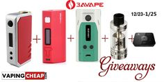 Enter to win over $216 worth of vape gear from 3avape at http://vapingcheap.com