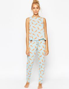 ThisASOS Goldfish Pyjama Set could be the perfect sleepwear for camping this summer. £24.