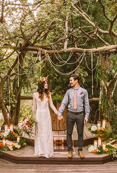 Moonrise Kingdom-inspired altar for a #bohemian wedding | Brides.com