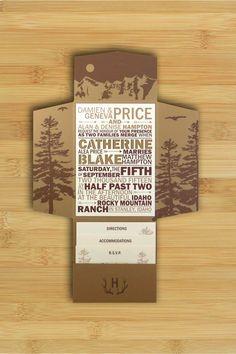 mountain wedding invitation