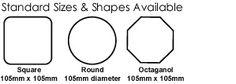 Coasters Sizes & Shapes_UK