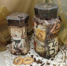 """Кухня ручной работы. Ярмарка Мастеров - ручная работа Баночки для кофе """"Винтаж"""". Handmade."""