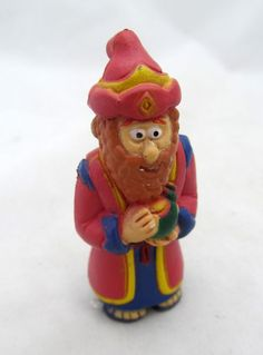 Wiseman Wisemen Red King Nativity Scene Manger Figurine Figure Christmas Decor