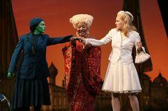 Donna Vivino (Elphaba), Myra Lucretia Taylor (Madame Morrible) and Katie Rose Clarke (Glinda) in the First National Tour
