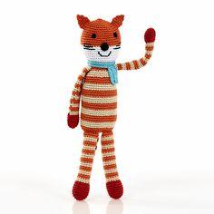 Pebble Fox Rattle Toy