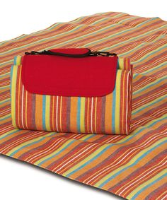 This Very Berry Stripe Waterproof Mega Mat Picnic Blanket By Plus Is Perfect