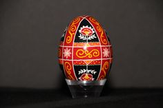 Traditional colors and design pysanky egg; Ukrainian Easter Eggs; pysanka; Window pane division; pascha gift; egg art; decorative eggs; gift by BeautifulEggsByDiane on Etsy