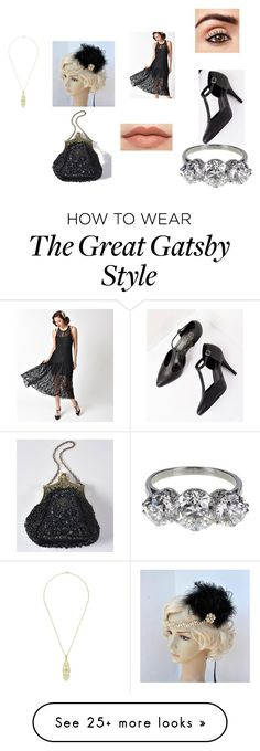 """flapper"" by explorer-14484921021 on Polyvore Great Gatsby Fashion, 20s Fashion, The Great Gatsby, Gatsby Style, Drop Earrings, Shoe Bag, Clothing, Polyvore, How To Wear"