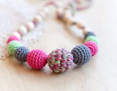 Nursing necklace  teething necklace  sling accessory by bysiki, $24.00