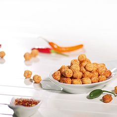 Soja puffs chili (zakjes) Carbonate De Calcium, Chili, Snacking, Menu Dieta, Almond, Cereal, Low Carb, Breakfast, Food