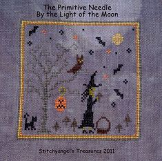 Primitive Cross Stitch Freebie | The Primitive Needle By the Light of the Moon ( freebie)