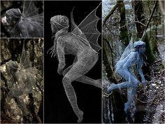 Derek Kinzett - Life Size Wire Sculptures