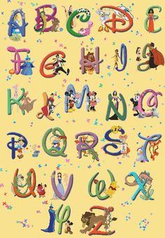 50 Idees De Abecedaire Disney Lettres Disney Disney Coloriage Disney