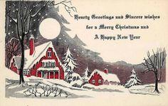 Old Christmas Post Сards —  Art Deco  (1000x633)