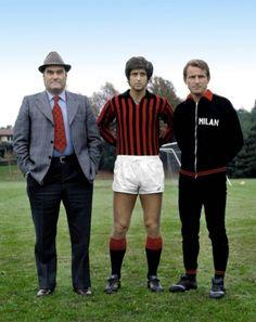 Nereo Rocco, Gianni Rivera, Giovanni Trapattoni (AC Milan)