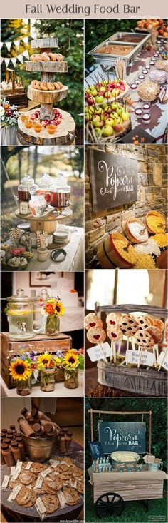 Fall wedding food drink and cookies bar / http://www.deerpearlflowers.com/fall-wedding-ideas-for-2017/