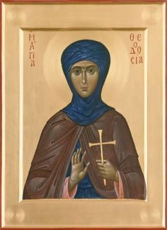 Theodosia of Tyre - April 2 Orthodox Icons, Mona Lisa, Saints, Batman, Statue, Superhero, Artwork, Cards, Fictional Characters