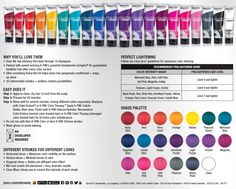 Joico Color Intensity Fact Sheet Color Intensity's intermixable formula can be applied straight from the tube, or mixed and mingled . Joico Hair Color, Vivid Hair Color, Hair Dye Colors, Hair Color And Cut, Joico Color Chart, Vivid Colors, Hair Color Swatches, Hair Levels, Color Fantasia