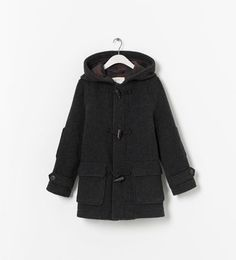 ZARA - KIDS - HOODED WOOLLEN COAT