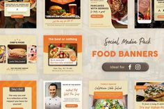 Food Banners by brandifystudio on Envato Elements Social Media Template, Social Media Design, Photoshop Design, Instagram Banner, Food Instagram, Envato Elements, Facebook Banner, Facebook Timeline, Food Banner