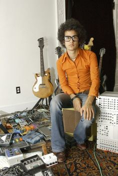 Omar Rodriguez-Lopez. I get butterflies whenever I turn on an At The Drive In album....