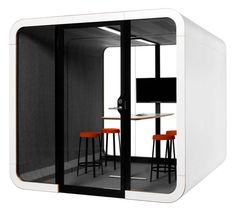 Framery is a meeting pod acoustically insulated and designed to hold people. Framery is ideal for private meetings and work groups… Office Noise, Formica Laminate, Laminated Glass, Meeting Table, Commercial Furniture, Office Interiors, Home Projects, Layout, Acoustic