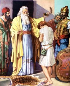 Samuel anointing David - found on Bible Vector