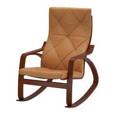 POÄNG Rocking chair, medium brown, Seglora natural Seglora natural medium brown