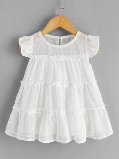 Kids Dress Wear, Little Girl Dresses, Toddler Girl Dresses, Girls Dresses, Baby Frocks Designs, Kids Frocks Design, Baby Outfits, Kids Outfits, Baby Girl Frock Design