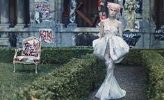 Saskia de Brauw in Giambattista Valli Haute Couture, photographed by Craig McDean for W October 2013