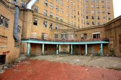 The back of the abandoned Baker Hotel in Mineral Wells, Texas.