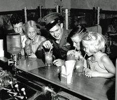 1940s vintage soda shop image