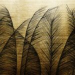 'Golden Wind' wallpaper, available from Wall & Deco.