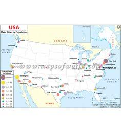 Buy US Map with Latitude and Longitude Map globe Latitude