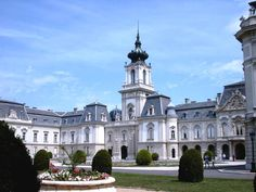 The Festetich Palace in Keszthely at the lake Balaton