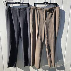 Lot of 2 Sag Harbor Stretch Petite Women's Gray & Brown Dress Pants Size 16P #SagHarbor #DressPants #Career