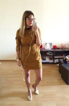 Vestido polka dots ZARA