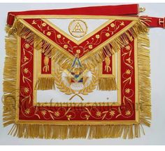 Masonic Royal Arch Past Grand High Priest Apron Grand Lodge, Masonic Lodge, Masonic Symbols, Eastern Star, High Priest, World Images, Freemasonry, Conspiracy Theories, Aprons