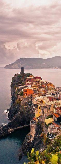 Vernazza, Cinque Terre, Italy.  Travel Italy