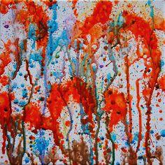 Over the River Thru the Woods via @leeseesart #paintings #AbstractArt #ArtForSale