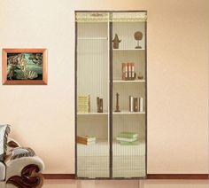 210x90CM Striped Door Curtain Magnetic Mosquito Door Screen
