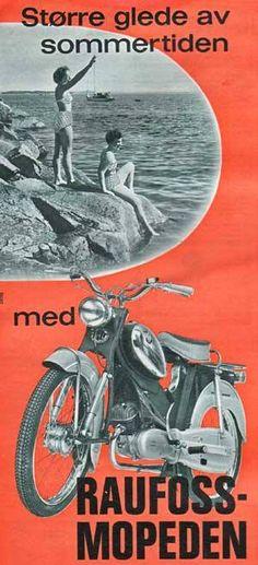 Raufoss-Mopeden rundt 1960?
