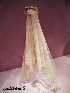 1800s Wedding Veil: THIS IS WHAT I WANTED! but I got a free tiara so I went ahead and got it so I'm not sure how to do my hear now. I still want at least one flower with my tiara and veil. Traditionally, Irish and welsh weddings have crowns of flowers rather than a veil but now I can't do that :/ but I can always alter and still have something close.
