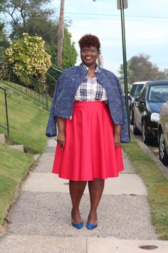 30 Plus Style: The $30 Challenge, Mad For Plaid | Grown and Curvy Woman
