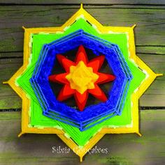 Mandala tecida colors