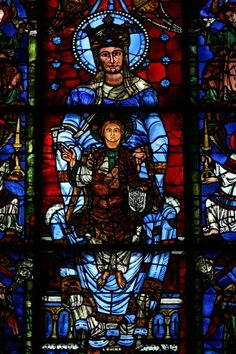 Blue Virgin Window.  Chartres glass is world renown.  80% is the original medieval glass.