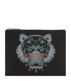 Kenzo Canvas Tiger Face Pouch | Harrods