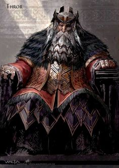 Thror father of Thrain, father of Thorin