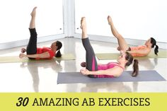 The 30 Best Ab Exercises: We have collected a list of 30 amazing ab exercises that are super effective at building a strong core and developing your ab muscles. Try incorporating some of these different ab exercises into your routine and see how they feel. Some of the exercises will target your lower abs, upper abs, your obliques or your entire core.